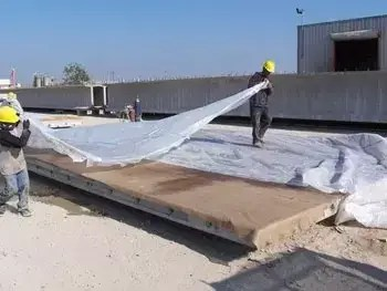 concrete wet during the curing process