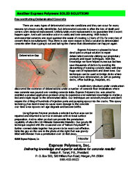 Use Roadware 10 Minute Concrete Mender to repair and re-bond delaminated concrete slabs.