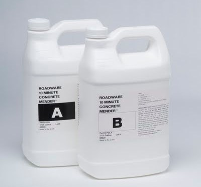 New bulk packaging for Roadware 10 Minute Concrete Mender™.