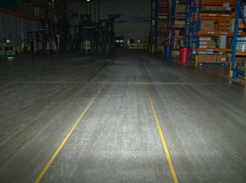 Safety Yellow Line Marking with Concrete Mender™ Yellow