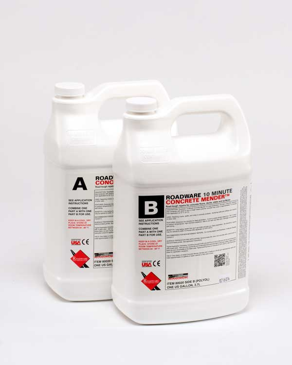 Roadware 10 Minute Concrete Mender™ two gallon kit. Item #80020