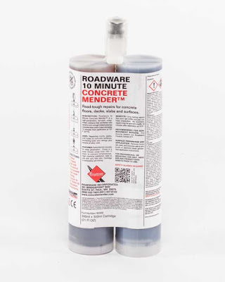 Roadware 10 Minute Concrete Mender #80300 600ml cartridge kit.