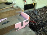 Make forms with pink or blue insulating board.