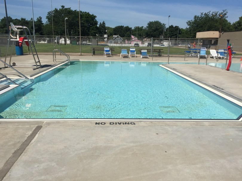 City pool repaired with Roadware 10 Minute Concrete Mender 16 years after application.
