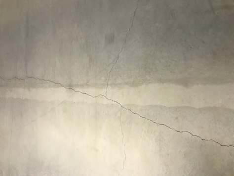 Crack in warehouse floor.