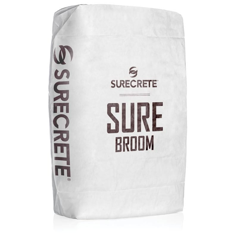 SureBroom concrete repair for heavy traffic. How to fix a concrete driveway that needs to have concrete texture repair work in a bag mix material. Concrete texture repair that is stronger than Ardex CD. How to repair ice melt damage on a concrete driveway repair.