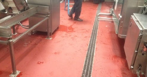 Commercial Kitchen Urethane Cement Floor Coating Material Training