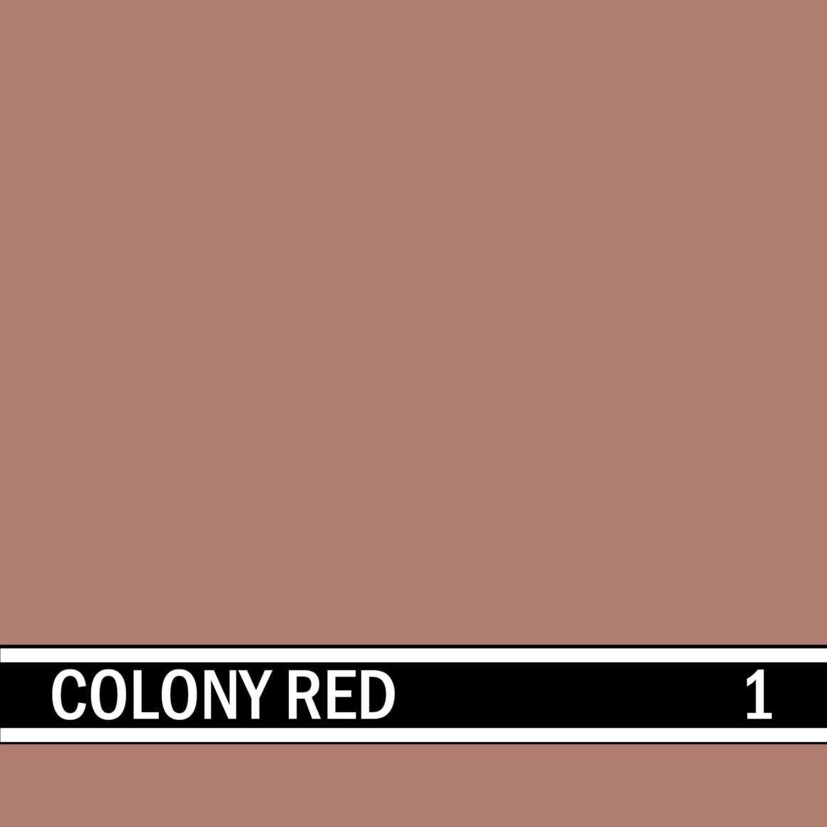 Colony Red integral concrete color for stamped concrete and decorative colored concrete