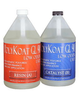 SurfKoat Poly Koat 90 Polyaspartic Polyurea Clear Concrete Floor Coating with long pot life polyaspartic product technology. User friendly high solids polyaspartic floor coating product for concrete floors.