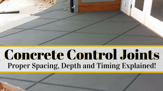 Concrete Control Joints And Proper Spacing Depth And Timing