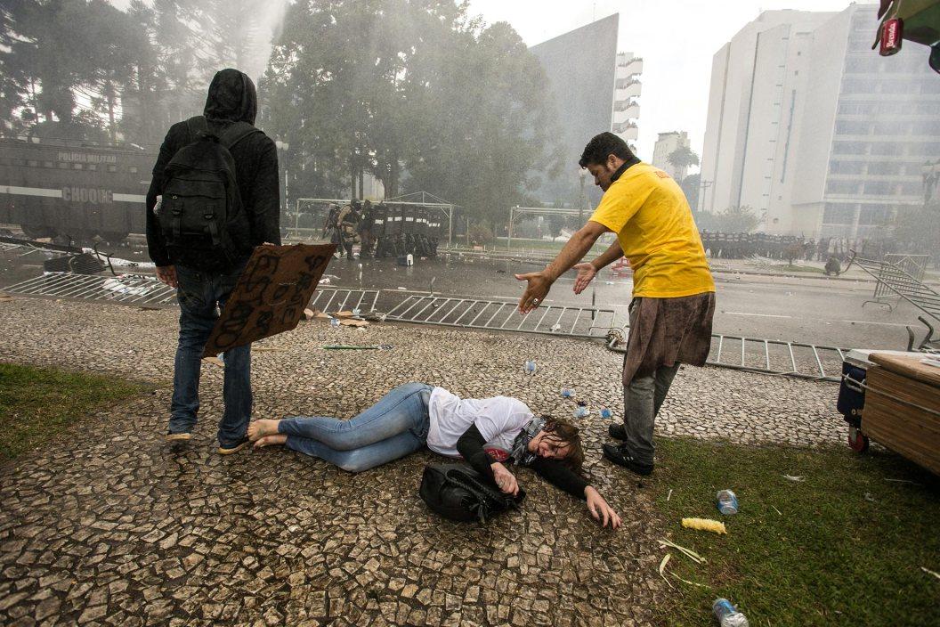 Lucha de los profesores del Paraná, Brasil