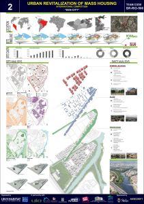 Concurso Mass Housing - Regional - América Latina e Caribe - Segundo Lugar - Prancha 1