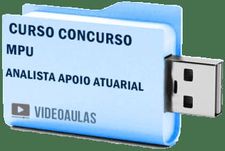 Concurso MPU Analista Apoio Atuarial Curso Videoaulas Pendrive