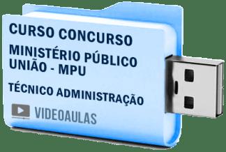 Concurso MPU Técnico Administração Curso Videoaulas Pendrive