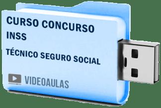 Concurso INSS Técnico Seguro Social Curso Videoaulas Pendrive