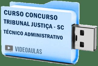 Concurso TJ SC Tribunal Justiça Técnico Judiciário Curso Vídeo Aula