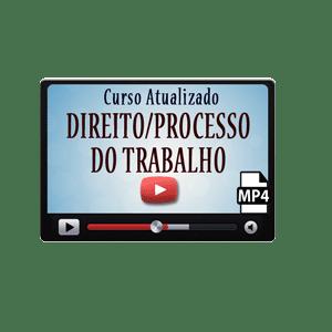 Direito Trabalho Processual Curso Vídeo Aulas Preparatório