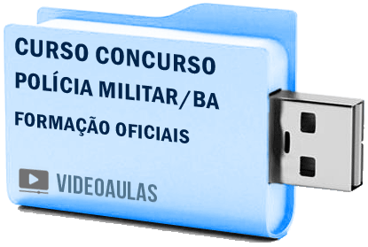 Curso Concurso Polícia Militar BA Oficiais Videoaulas Pendrive