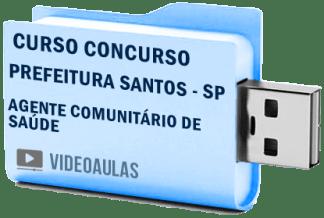 Concurso Prefeitura Santos SP Agente Comunitário Saúde Curso Vídeo Aulas
