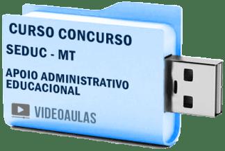 SEDUC MT Secretaria Educação Apoio ADM Educacional Curso Concurso Vídeo Aulas