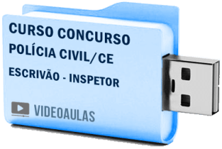 Curso Concurso Vídeo Aulas Polícia Civil CE – Escrivão e Inspetor – Pendrive