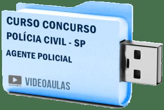 Curso Vídeo Aulas Concurso Polícia Civil – SP – Agente Policial 2018 – Pendrive