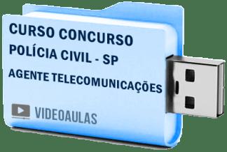 Curso Vídeo Aulas Concurso Polícia Civil – SP – Agente Telecomunicações 2018 Pendrive