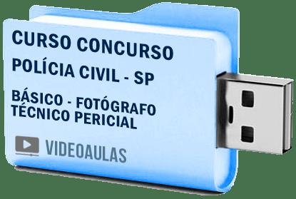 Curso Vídeo Aulas Concurso Polícia Civil SP – Fotógrafo – Técnico Pericial