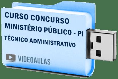 Curso Concurso Vídeo Aulas Ministério Público – PI – Técnico Administrativo Pendrive 2018