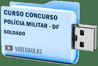 Curso Concurso Vídeo Aulas Polícia Militar – DF – Soldado PM – 2018 Pendrive