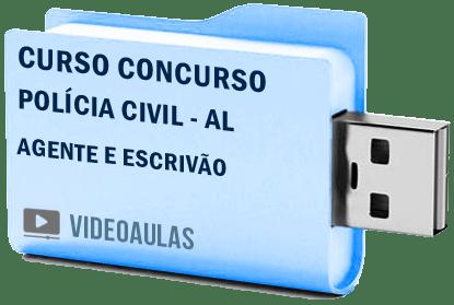 Curso Concurso Vídeo Aulas Polícia Civil – AL – Agente – Escrivão – Pendrive 2018