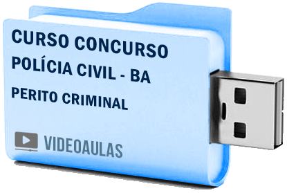 Curso Concurso Vídeo Aulas Polícia Civil – BA – Perito Criminal Pendrive 2018