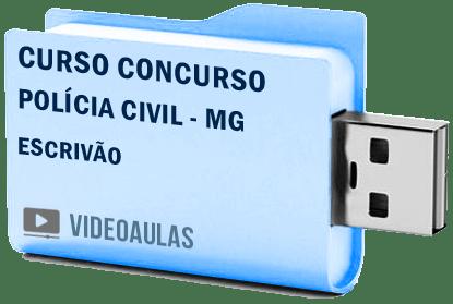 Curso Vídeo Aulas Concurso Polícia Civil – MG – Escrivão 2018 – Pendrive