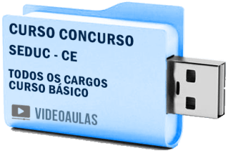 Curso Básico Vídeo Aulas Concurso SEDUC – CE – Todos os Cargos 2018 – Pendrive
