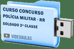 Curso Vídeo Aulas Concurso Polícia Militar - RR - Soldado 2ª Classe 2018 - Pendrive