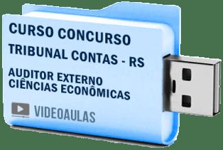Curso Vídeo Aulas Concurso TCE – RS – Auditor Externo Ciências Econômicas 2018 – Pendrive