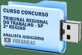 Curso Vídeo Aulas Concurso TRT – SP – 2ª Região – Analista Judiciário 2018 – Pendrive