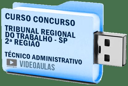 Curso Vídeo Aulas Concurso TRT – SP – 2ª Região – Técnico Administrativo 2018 – Pendrive