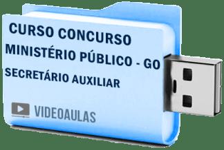 Curso Vídeo Aulas Concurso Ministério Público – GO – Secretário Auxiliar – Pendrive