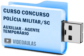 Curso Concurso Polícia Militar – SC – Agente Temporário – Vídeo Aulas Pendrive