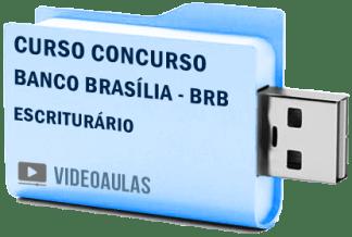 Curso Concurso Banco Brasília BRB – Escriturário Videoaulas Pendrive