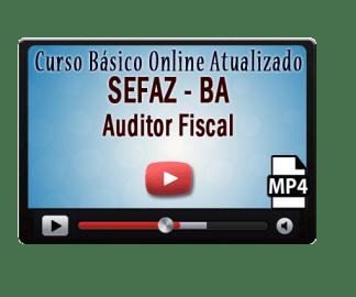 Curso Online Básico Concurso Sefaz BA Auditor Fiscal Vídeo Aulas