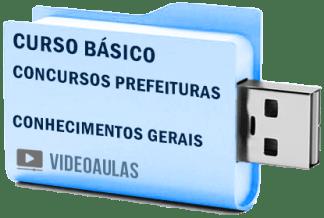 Curso Básico Concursos Prefeituras Conhecimentos Gerais Videoaulas