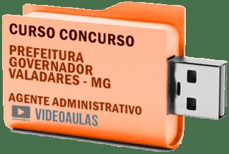 Concurso Prefeitura Governador Valadares – MG – Agente Administrativo Curso Videoaulas