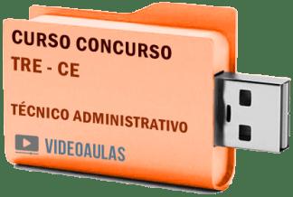 Concurso TRE – CE – Técnico Administrativo – Curso Videoaulas Pendrive