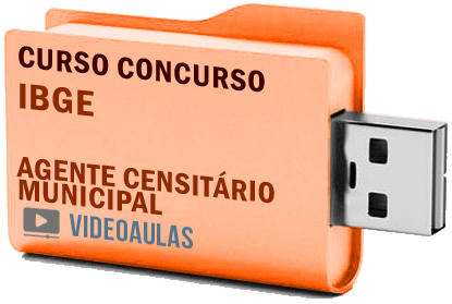 Concurso IBGE – Agente Censitário Municipal – Curso Videoaulas Pendrive