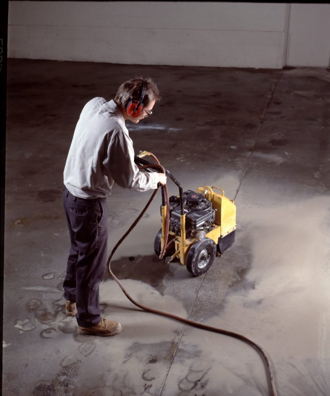 Diamond grinding to eliminate toe-stubbers, ridgesk, and high spots can be performed with gas or electric equipment.