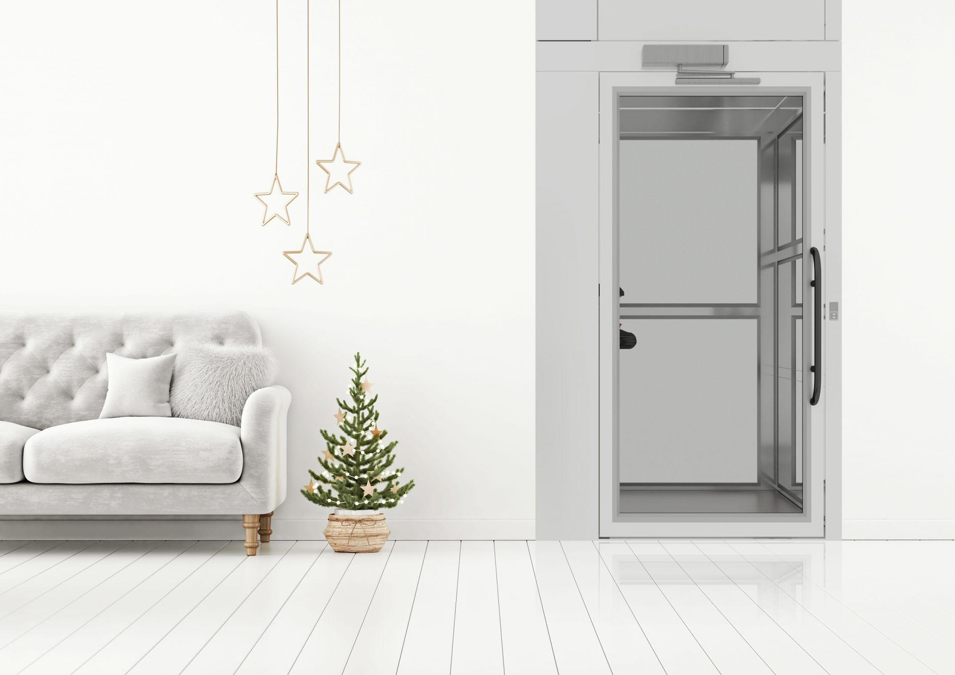 condato home lift in living roome