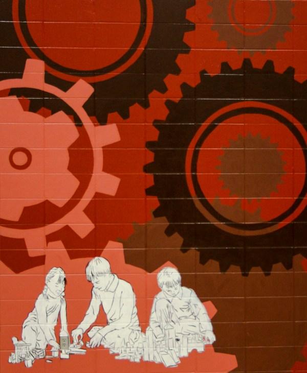 Lino Lakes Elementary Stem Mural Condensedcloud