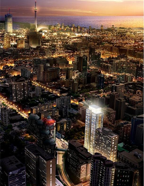Couture Condos Aerial View Toronto, Canada